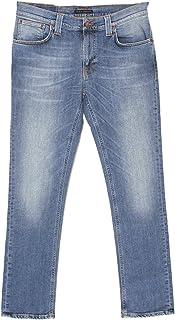 Pantalones vaqueros para hombre de Nudie, thin finn, stretdenim, Tender Blues azul [17978]