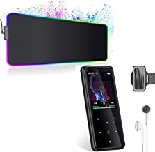 $64 » MP3 Player with Bluetooth 4.2,32GB Sports MP3 Player with Free Sports Armband and Earbud & RGB Gaming Mouse Pad, Glowing L...