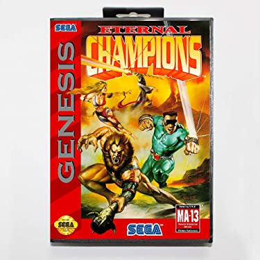 New 16 Bit Md Game Card - Eternal Champions With Retail Box For Sega Genesis System EUR Shell