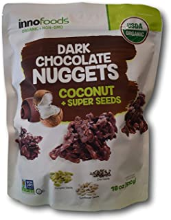 Innofoods Organic Dark Chocolate Nuggets with Coconut & Super Seeds