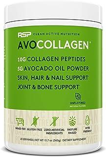 RSP AvoCollagen - Hydrolyzed Collagen Peptides, Collagen Powder plus Healthy Fats, Keto and Paleo Friendly, Gluten Free 20...