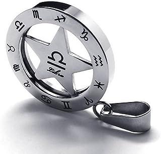 Zodiaque BALANCE Heure /& Minutes H070M756 Argent rhodi/é Pendentif homme