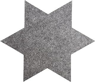 Vilten sterren 35 cm sterren set rood, grijs - onderzetters van vilt voor tafel en bar als onderzetter voor glas en glaze...
