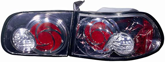 Depo 317-1944FXUS7 Honda Civic Hatch Back Gun Metal Tail Light