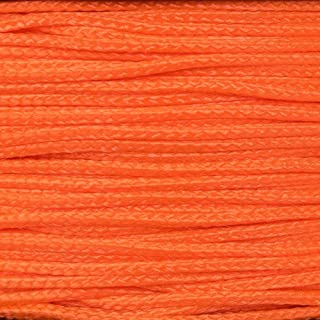 PARACORD PLANET Micro Cord 1.18mm Diameter 125 Feet Spool of Braided Cord - Available in a Variety of Colors Made in The USA (Neon Orange)