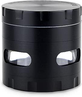 LIHAO [Nueva Versión] Grinder Metálico 4 Piezas para Hierbas y Especias (55mm, Negro)