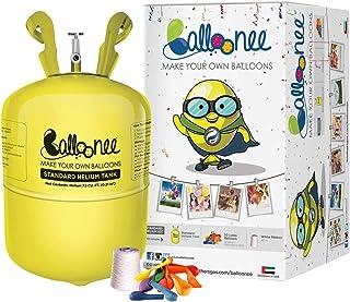 مجموعة ادوات الحفلات المعيارية من بالوني مرفقة بخزان غاز الهيليوم 30 بالون وشريط
