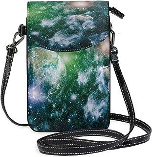 ZZKKO Universum Space Mini-Umhängetasche, Umhängetasche, Handy, Geldbörse, Tasche, Handtasche, Leder, für Damen, Freizeit,...