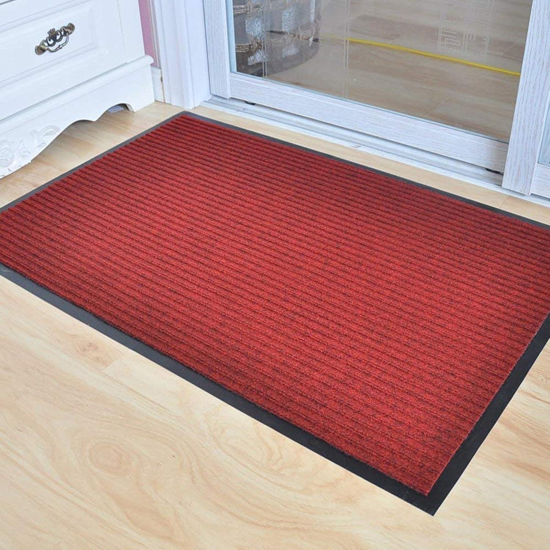 Royare Home Decorations mat Striped mats dustproof Door mat Outdoor pad PVC Non-Slip (color   A, Size   80x120cm(31x47inch))