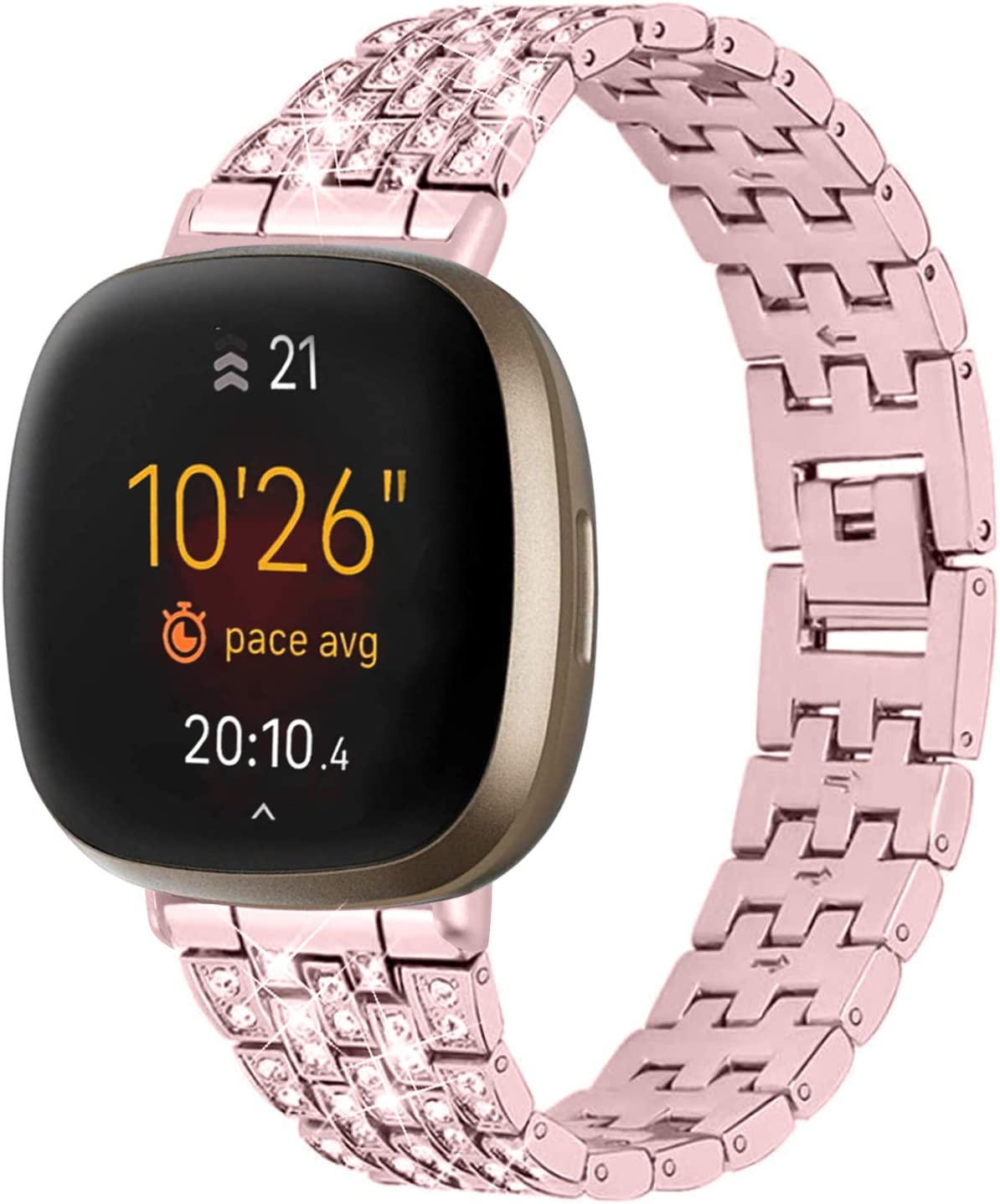 Cheap Max 86% OFF mail order shopping TechCode Compatible with Fitbit Versa Women Stainle 3 for Bands