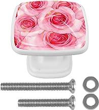 Mooie Rose Bloemen Lade Knop voor Thuis Kabinet Dressoir Boekenkast 4PCS met Schroeven