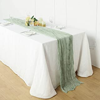 Efavormart 10FT Gauze Table Runner Cheesecloth Fabric for Wedding Arch, Arbor Decor - Sage Green