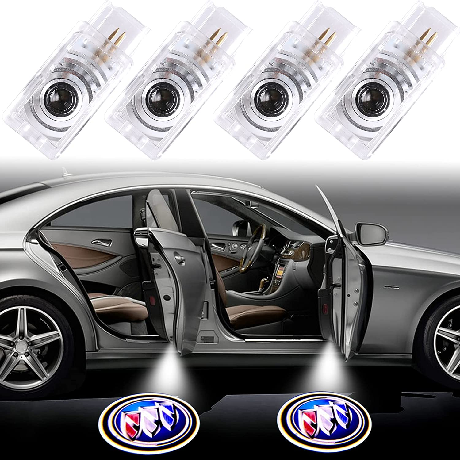 4PCS Genuine for Buick Car Door Lights Logo Light Ghost Shad Max 54% OFF Projector