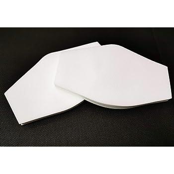 BEYBI® PACK 60 Filtros EXTRA GRANDES 18x10,5cm certificados para mascarillas de tela,FORMA HERGONÓMICA. Recortables y reutilizables. TNT 70gr alta calidad muy transpirables, HECHOS EN ESPAÑA