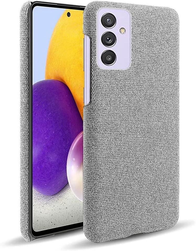 جراب SHUNDA لهاتف Samsung Galaxy Quantum 2، غطاء حماية من نسيج اللباد فائق النحافة عالي الجودة مضاد لبصمات الأصابع لهاتف Samsung Galaxy Quantum 2 6.7 بوصة - رمادي فاتح