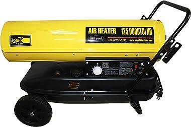 Hiland HIL-SHOP-D125 Warehouse/Shop Heater Diesel Forced Air, 125,000 BTU, Yellow