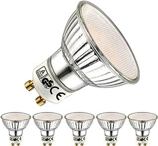 EACLL Bombillas LED GU10 2700K Blanco Cálido 5W 400 Lúmenes Equivalente 50W Halógena. 120 ° Luz Blanca Cálida Spotlight LED, 5 Pack