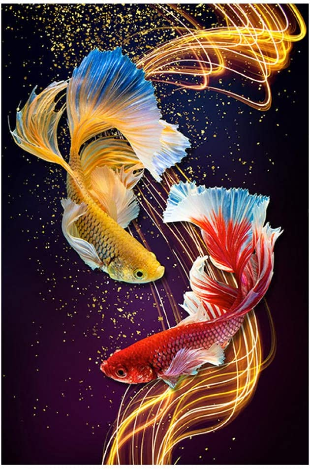 6000 Pieces Wooden Max 58% OFF Educational Jigsaw Puzzle sale Two goldfish