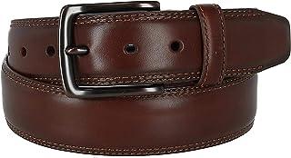 حزام جلدي مزدوج الغرزة للرجال من كولومبيا مع إبزيم نحاسي اللون