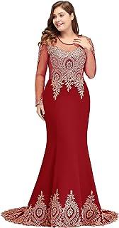 6044014d86de1 Babyonlinedress Sexy Elegant Robe de Soirée Bal Cérémonie Forme Fourreau  Sirène Trompette Longue