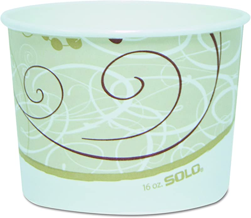 Solo VS516 J8000 16 Oz Symphony Vs SSP Paper Food Container Case Of 500