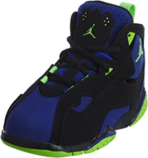 6c58f237375f Jordan True Flight Black Electric Green-Concord (Toddler) (5 M US