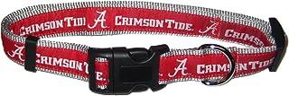 Pets First Collegiate Pet Accessories, Dog Collar, Alabama Crimson Tide, Large
