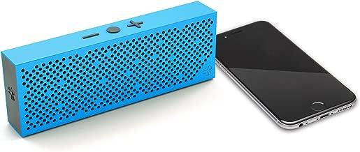 JLab Audio Crasher Slim- METAIL Build Rugged Portable Splashproof Bluetooth Speaker with 10 Hour Battery - Blue