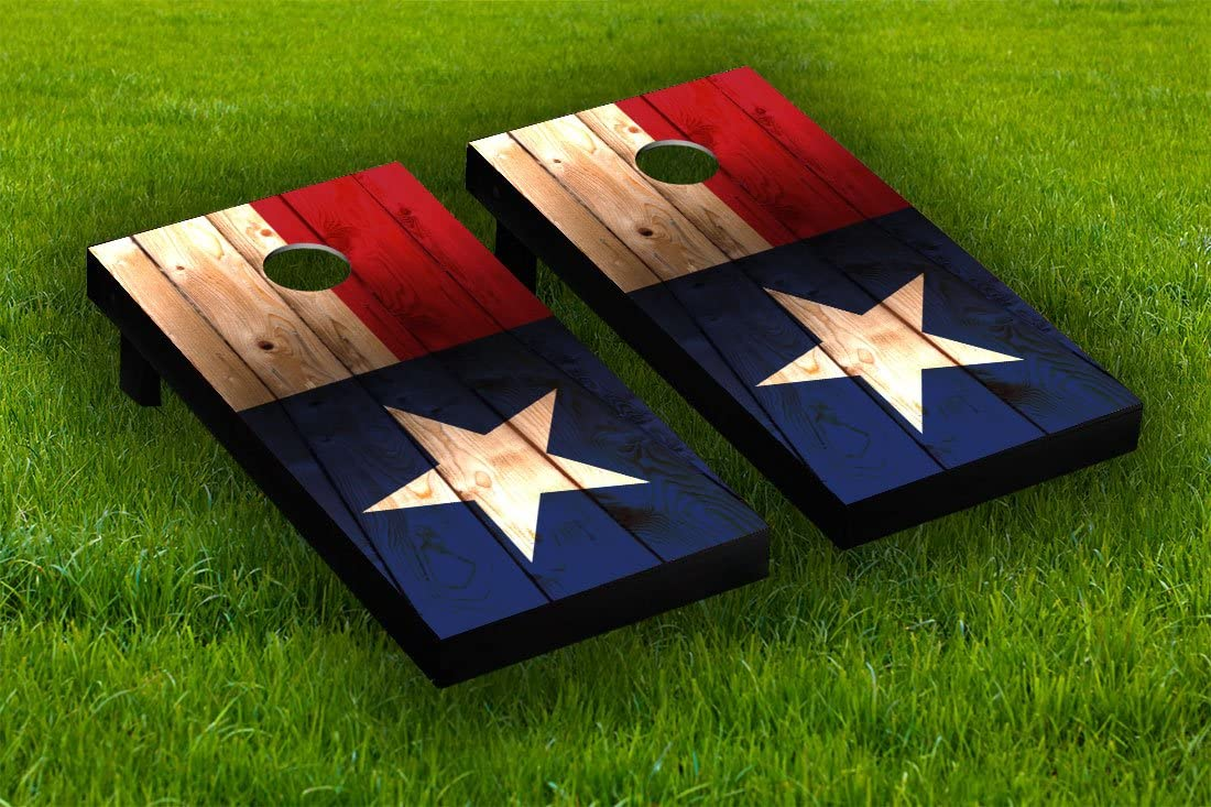 Distressed Texas Flag Cornhole Board Sticker Set Laminated Don't miss Max 82% OFF the campaign Wraps
