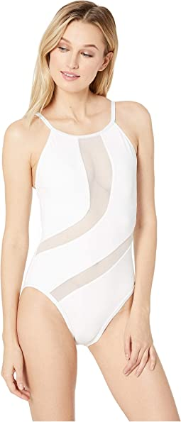 Gold Mine High Neck One-Piece