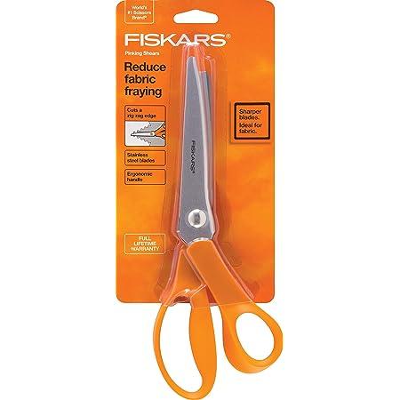 Fiskars 12-94458697WJ Pinking Shears, 8 Inch, Orange