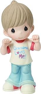 Precious Moments, Grandma Loves Me, Bisque Porcelain Figurine, Boy, 154033