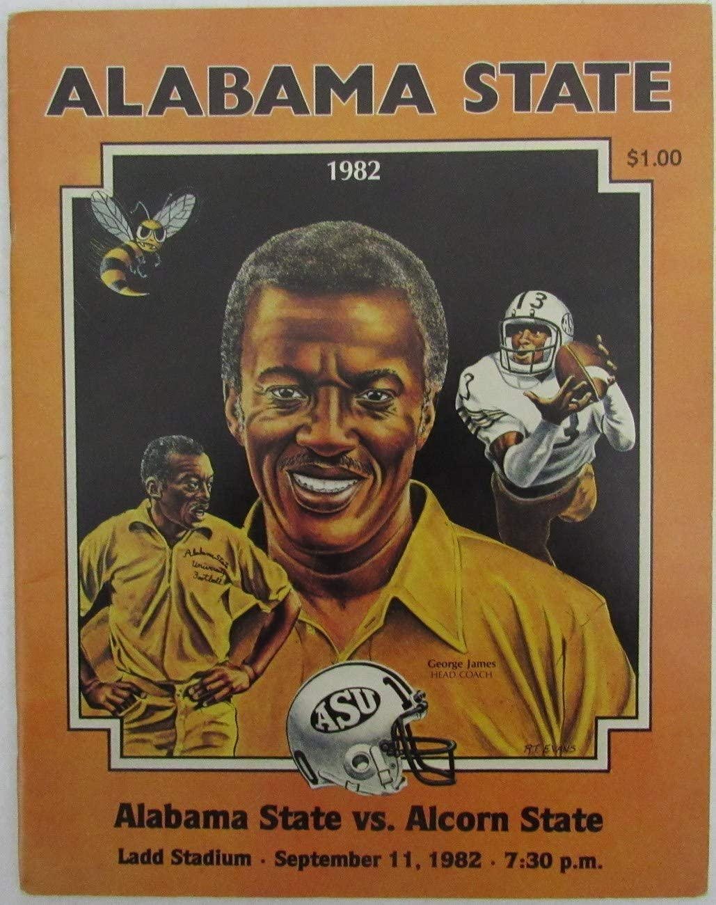 1982 Alabama Max 70% OFF State vs. Alcorn Limited Special Price Progra College Game Football