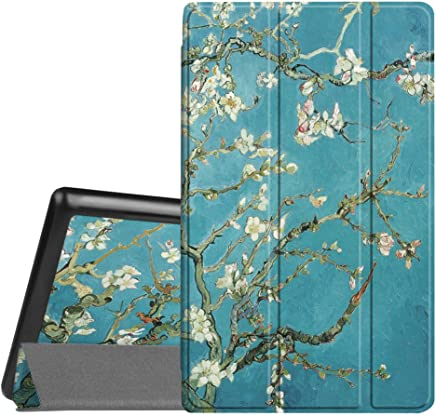 Fintie Slim Case for All-New Amazon Fire HD 8 Tablet (7th and 8th Generation, 2017 and 2018 Releases), Ultra Lightweight Slim Shell Standing Cover with Auto Wake/Sleep, Blossom