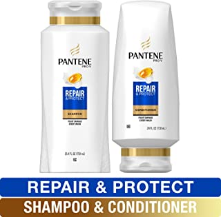 Sponsored Ad - Pantene, Shampoo and Conditioner Kit, with Argan Oil, Pro-V Repair and Protect for Damaged Hair, 25.4 oz an...