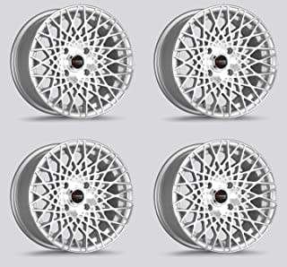 Drag DR-65 Wheels 15x7.5 4x100 Concave Silver Machined face set of 4 Rims