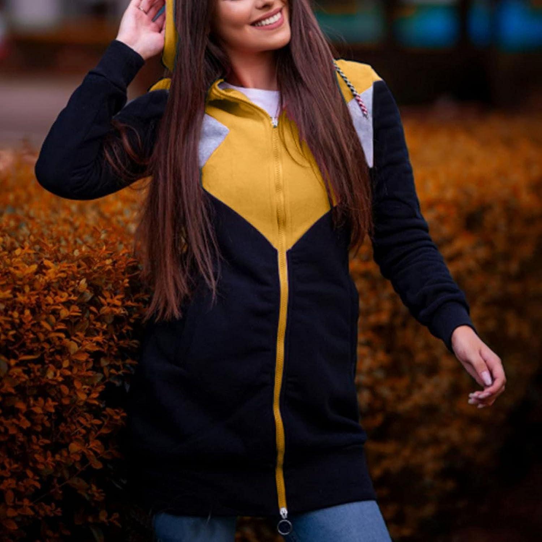 Hemlock Women Hooded Cardigans Coat Long Zip Up Jackets Slim Hoodies Coat Plus Size Outwear