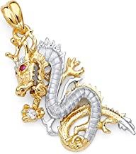Best gold dragon pendant Reviews