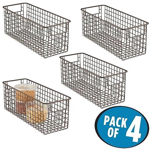 Wire Mesh Basket Kichen Vegetable Storage Basket Storage Bin Bucket Blue