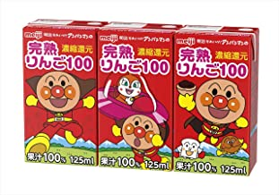 明治それいけ! アンパンマンの完熟りんご100 125ml ×36本