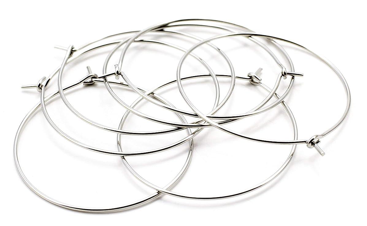 Cousin DIY 30mm Stainless Steel Earring Hoop - 22pc