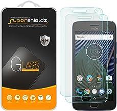 (2 بسته) Supershieldz برای موتورولا (Moto G5 Plus) و Moto G Plus (نسل 5) محافظ صفحه نمایش شیشه ای ضد خش ، ضد حباب