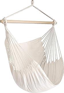 Chihee Silla de la Hamaca Hamaca Grande de relajación Que cuelga, Silla de Tela del algodón para Mayor Comodidad y Durabilidad Interior/al Aire Libre del hogar