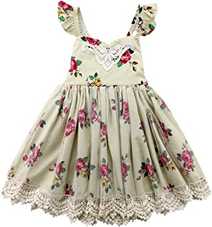 Balalei Toddler Summer Outfits Cute Br2019 Kids Girl Girls Dress Lace Flower Tulle Tutu Party Sleeveless Dress Sundress