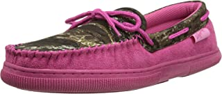 Blazin Roxx Womens Camo Moccasin Slippers, Faux Suede, Rubber