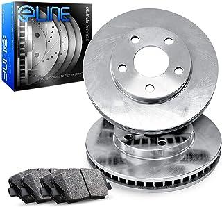 For 4Runner,Tacoma,FJ Cruiser,Hilux Front Plain Brake Rotors+Semi-Met Pads