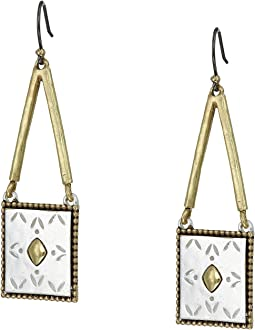 Tribal Square Drop Earrings