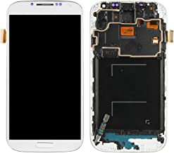 Screen Replacement for Samsung Galaxy S4, Compatible with SGH-I337 SGH-M919 LCD Display Touch Screen Replacement Digitizer Assembly with Repair Tools Kit (Not AMOLED) (White with Frame)