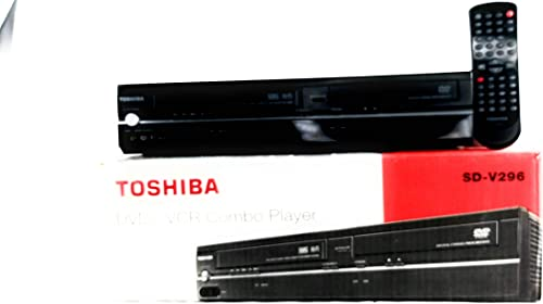 Toshiba SD-V296-K-TU Tunerless DVD/VCR Deck Player Recorder COMBO. VHS & CD Player. AV Cable Included. No Remote product image