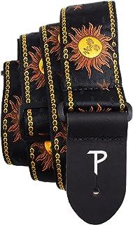 Perri's Leathers Ltd. - Guitar Strap - Nylon - Jacquard - Hello Sunshine - Black - Adjustable - For Acoustic/Bass/Electric...